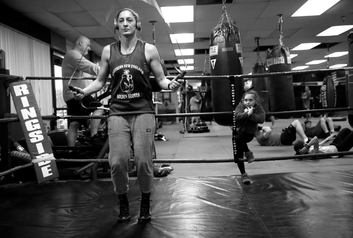 A week before her fight, Magdziak Lopes jumps rope at Bishop's